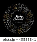 クリスマス アイコン バックグラウンドのイラスト 45583841