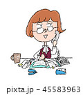 仕事 女性 ビジネスのイラスト 45583963