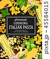 パスタ料理 イタリア イタリアンのイラスト 45584015