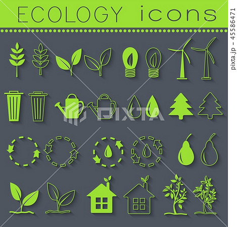 set eco icon on white background. Vector illustration design 45586471