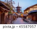 street view of hokanji in kyoto, japan at night 45587057