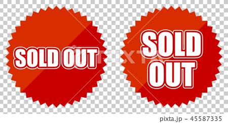 Sold Out 売り切れ 販促物 Sale セール アイコンのイラスト素材
