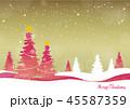 クリスマス フレーム 背景のイラスト 45587359