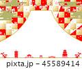 富士山 市松模様 コピースペースのイラスト 45589414