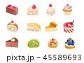 ケーキセット 45589693