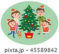 クリスマス 家族 ファミリーのイラスト 45589842
