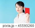レッドカード 人物 女性の写真 45593260