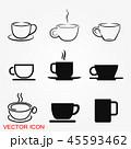 コーヒー カップ アイコンのイラスト 45593462