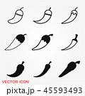胡椒 チリ アイコンのイラスト 45593493