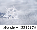 Christmas decoration snowflake on fresh snow 45593978