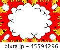 火 炎 フレームのイラスト 45594296