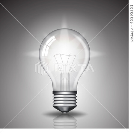 realistic bulb with light 45595251