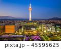 night view of the skyline of  kyoto, japan 45595625