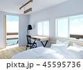 テーブル 海 インテリアのイラスト 45595736