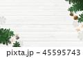 クリスマス 背景 オーナメントのイラスト 45595743