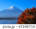 河口湖 富士山 秋の写真 45596710