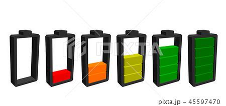 Battery icon. Charge level indicators. 45597470