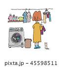 洗濯物を干す女性 45598511