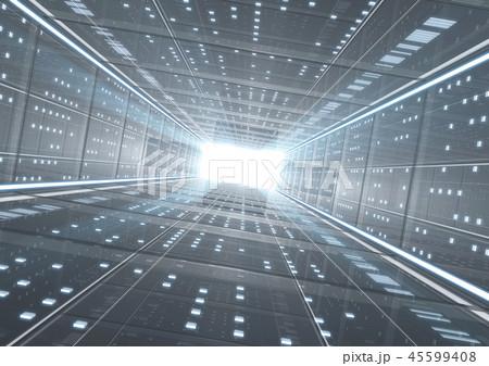 IT ビジネスイメージ 背景CG カメラ少し斜め グレー 45599408