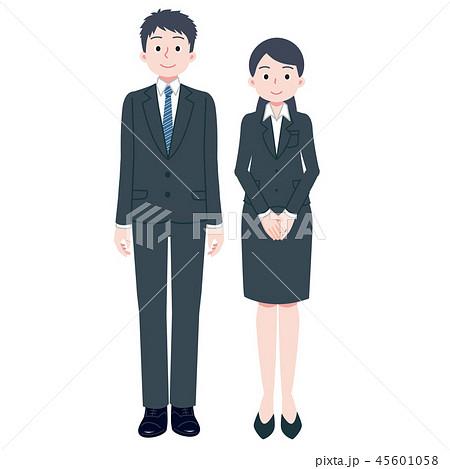 スーツ 男女 全身 45601058