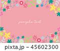 花 フレーム 枠のイラスト 45602300