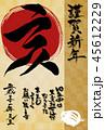 謹賀新年 亥年 年賀状のイラスト 45612229