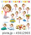 女性 食事 食のイラスト 45612903