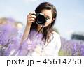 花畑と女性 ポートレート 45614250