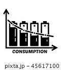 エネルギー バッテリー 電池のイラスト 45617100