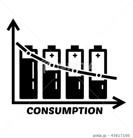 Energy battery consumption icon, simple style 45617100