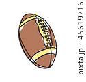アメリカンフットボール サッカー フットボールのイラスト 45619716