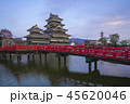 The Keep of Matsumoto Castle at twilight in Nagano 45620046
