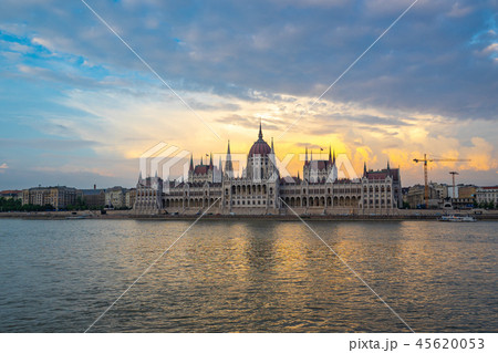 View of Budapest Parliament Building in Hungary 45620053