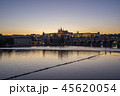 Night view of Prague city skyline in Czech 45620054
