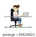 PC ノートパソコン ビジネスのイラスト 45620921