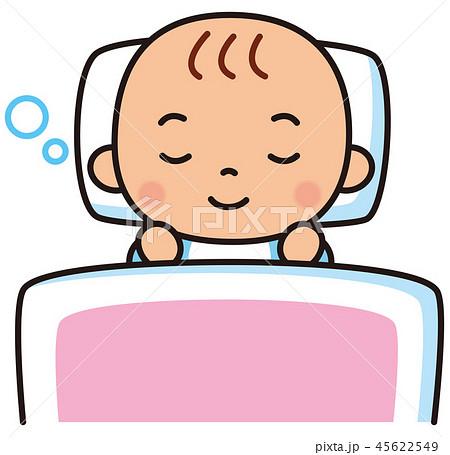 眠る赤ちゃん 布団 45622549