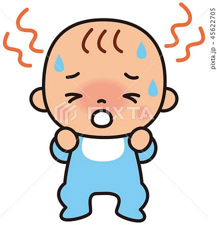 熱のある赤ちゃん 熱中症 45622705