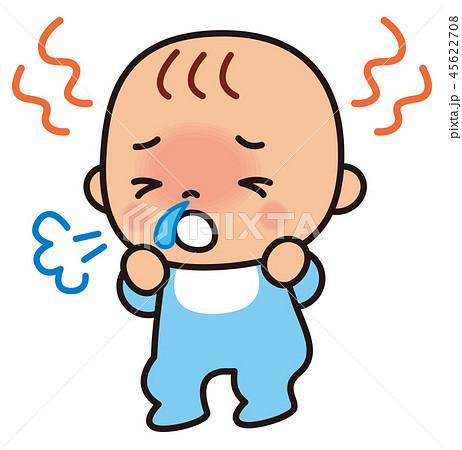 風邪の症状の赤ちゃん 45622708