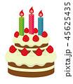 ケーキ ベクター ショートケーキのイラスト 45625435