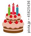 ケーキ ベクター ショートケーキのイラスト 45625436