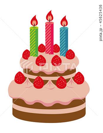 バースデーケーキ・クリスマスケーキ イラスト 45625436