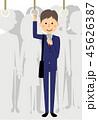 ビジネスマン ベクター スマートフォンのイラスト 45626387