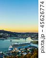 大型客船 長崎 夕景の写真 45626774