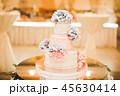 ケーキ ウエディング 花の写真 45630414