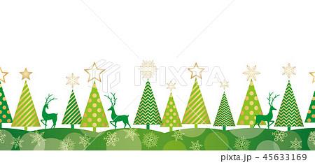 シームレスなクリスマスの背景イラスト 45633169