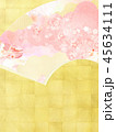 和-和風-和柄-背景-和紙-金箔-春-桜-ピンク 45634111