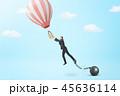男 気球 ビジネスマンの写真 45636114