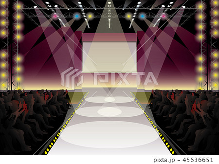 ファッションショーステージのイラスト素材 [45636651] , PIXTA