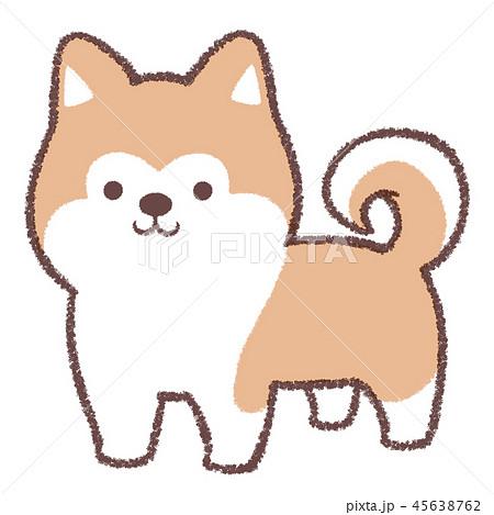 秋田犬立ちのイラスト素材 45638762 Pixta