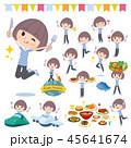 女性 食事 食のイラスト 45641674